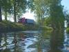 16 droga Świętno- Mochy zbliża sie do brzegu kanału