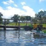12 przy niższym stanie wody można przepłynąć pod mostkiem