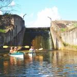 Kanał Ołobok -jaz nr 614 przy młynie w Przetocznicy