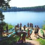 widok na jezioro Cibórz