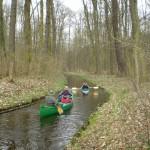 Kanał Obrzyckki wczesną wiosną