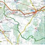 mapa Kanał Obrzycki na odcinku Siadcza -Ostrzyce